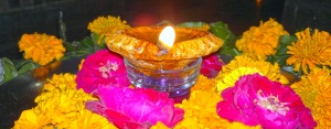 Diya With Flower